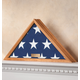Personalized Veterans Flag Display Case Honey, One Size