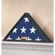 Personalized Veterans Flag Display Case Black, One Size