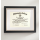 Taylor Conservation Document Frame Black With Brushed Nickel, One Size