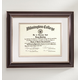 Tuscan Conservation Document Frame Walnut, One Size