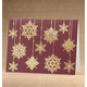 Personalized Frosted Droplet Christmas Card Set Of 18 Card Only, One Size