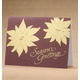 Golden Poinsettia Holiday Cards - Set Of 18, One Size