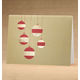 Golden Cascade Ornaments Holiday Cards - Set Of 18, One Size