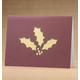 Holly Leaf Holiday Cards - Set Of 18, One Size
