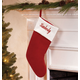 Personalized Red Velvet Stocking, One Size