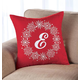 Monogrammed Snowflake Wreath Throw Pillow 18 X 18, One Size