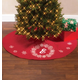 Monogrammed Snowflake Wreath 54 Inch Quilted Tree Skirt, One Size