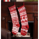28 Inch Knit Stockings Snowflake, One Size