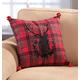 Plaid Deer Pillow 15