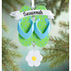 Personalized Flip-Flop Ornament, One Size