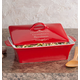 Personalized Red Lidded Rectangular Baking Dish 12