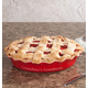 Personalized Red Ceramic Pie Dish, One Size