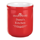 Personalized Utility Crock Red Monogram, One Size