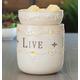Live, Laugh, Love Illumination Fragrance Warmer, One Size