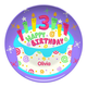 Personalized Happy 3Rd Birthday Plate, One Size