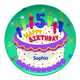 Personalized Happy 5Th Birthday Plate, One Size