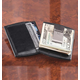 Monogrammed Black Money Clip Wallet, One Size