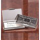 Monogrammed Embossed Business Card Case, One Size