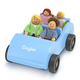 Melissa & Doug Personalized Wooden Car & Passengers, One Size