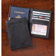 Personalized Leather Rfid Passport Wallet, One Size