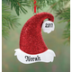 Personalized Santa Hat Ornament, One Size