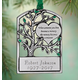 Personalized Pewter Memorial Tree Ornament, One Size
