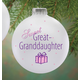 Personalized Sweet Great Granddaughter Ball Ornament, One Size