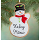 Personalized Snowman Christmas Cookie Ornament, One Size