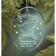 Personalized Memorial Glass Ornament, One Size