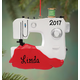 Personalized Sewing Machine Ornament, One Size