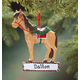 Personalized Horse With Saddle Ornament, One Size