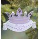 Personalized Purple Crown Ornament, One Size