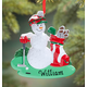 Personalized Golf Ball Snowman Ornament, One Size