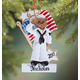 Personalized Navy Bear Ornament, One Size