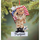Personalized Army Bear Ornament, One Size