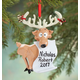 Personalized Reindeer With Santa's List Ornament, One Size