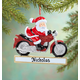 Personalized Cruisin' Santa Ornament, One Size