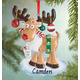 Personalized Egg Nog Moose Ornament, One Size