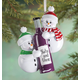 Personalized Snowmen With Wine Bottle Ornament, One Size