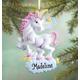 Personalized Unicorn Ornament, One Size