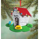 Personalized Dog House In Lights Ornaments, One Size