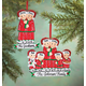 Personalized Family In Pajamas Ornament, One Size