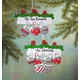 Personalized Family Mittens Ornament, One Size