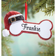 Personalized Santa Dog Bone Ornament, One Size