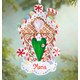 Personalized Glitter Gingerbread House Ornament, One Size