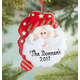Personalized Christmas Santa Ornament Plain, One Size