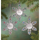 Personalized Birthstone Snowflake Pewter Ornament, One Size