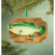 Personalized Mounted Fish Ornament, One Size
