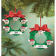 Personalized Wreath Family Ornament, One Size