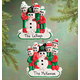 Personalized Family And Snowman Ornament, One Size